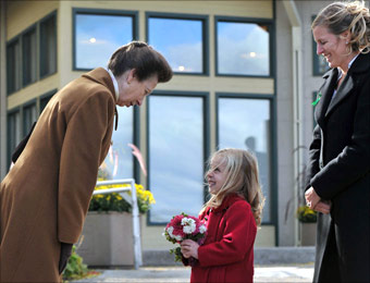 Ashley Logan welcomes Princess Anne to Barrie