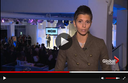 Global News covers 2014 Angels Catwalk for SickKids